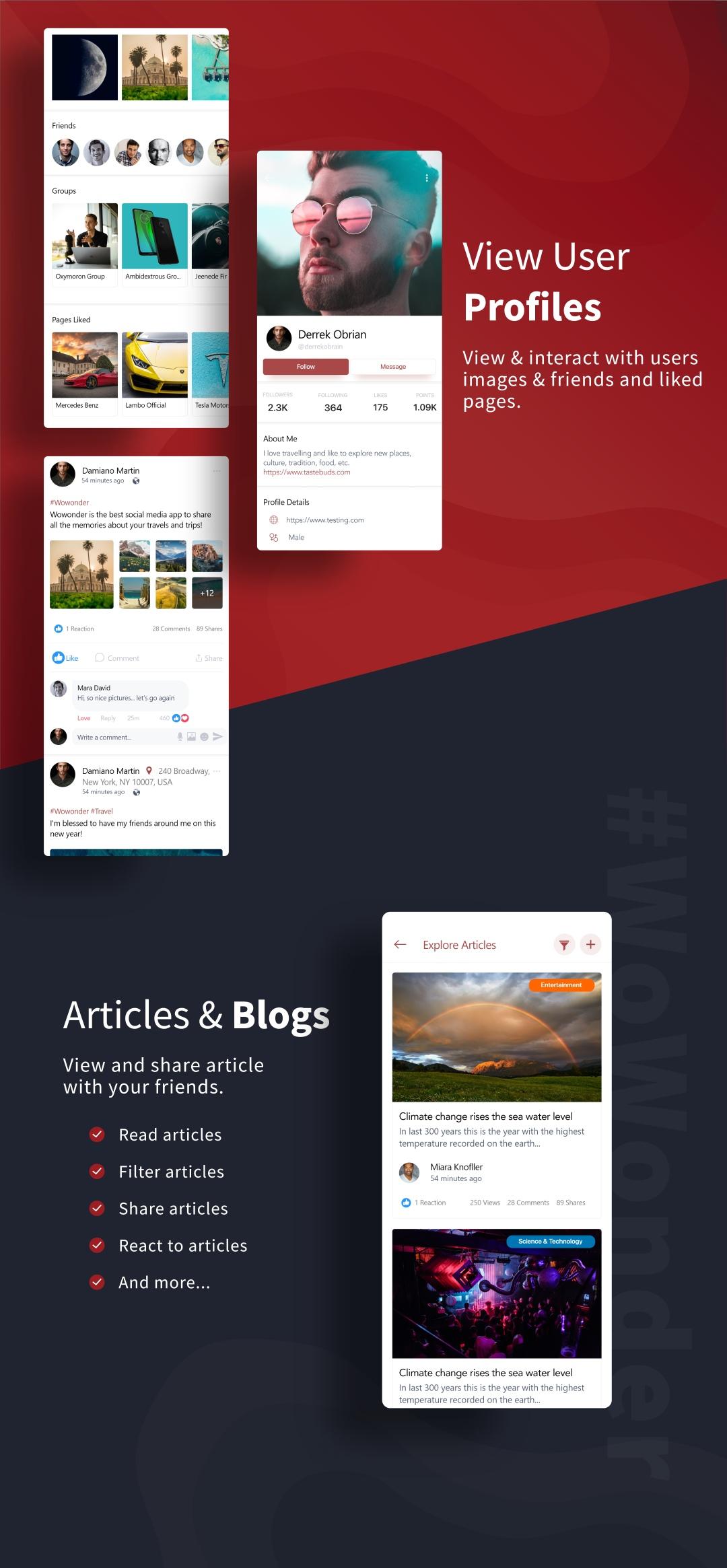 Mobile Native Social Timeline Applications - For WoWonder Social PHP Script - 5